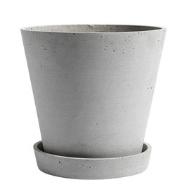 HAY HAY Flowerpot with Saucer XL Grey