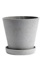 HAY HAY Flowerpot with Saucer L Grey