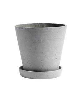 HAY HAY Flowerpot with Saucer L Grey