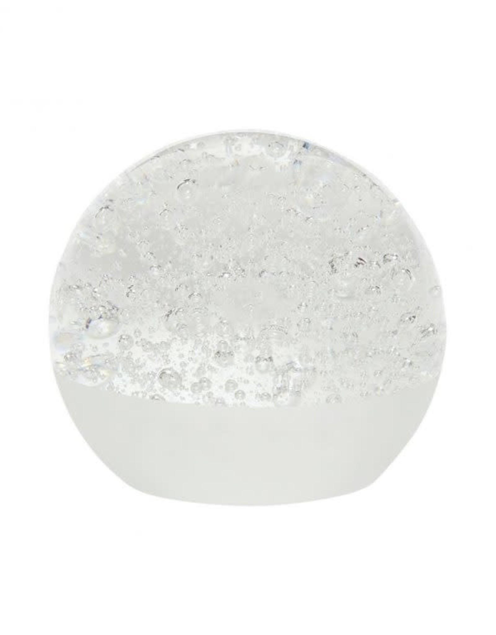 Hübsch Hübsch Paperweight Glass White 9cm