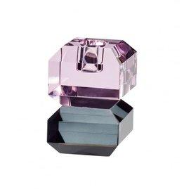 Hübsch Hübsch Candlestick Glass Pink/Smoked