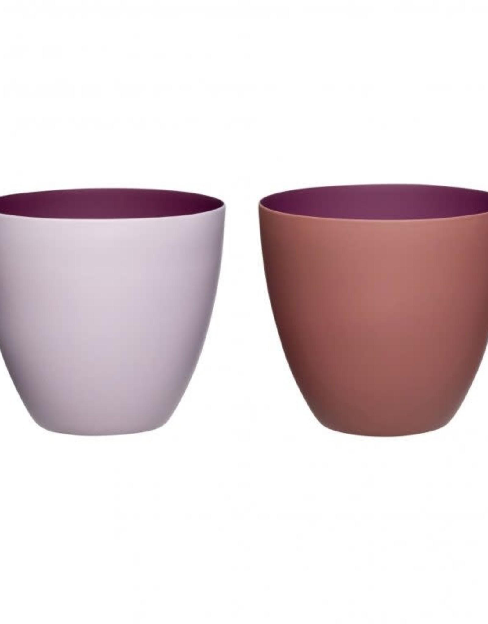 Hübsch Hübsch Tealight Holder Porcelain Bordeaux/Pink
