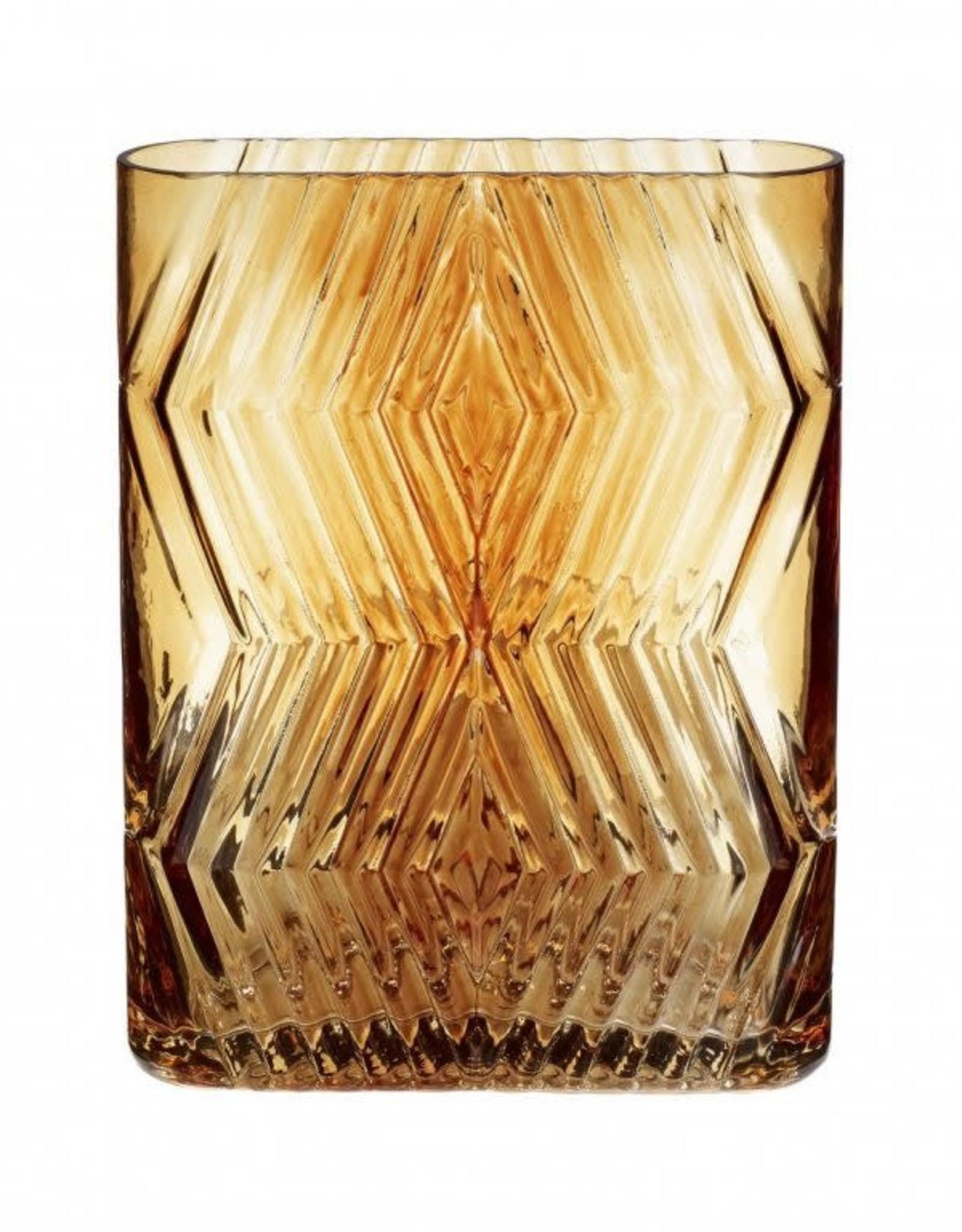 Hübsch Hübsch Vase Glass Amber