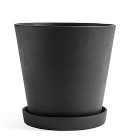 HAY HAY Flowerpot with Saucer XXL Black