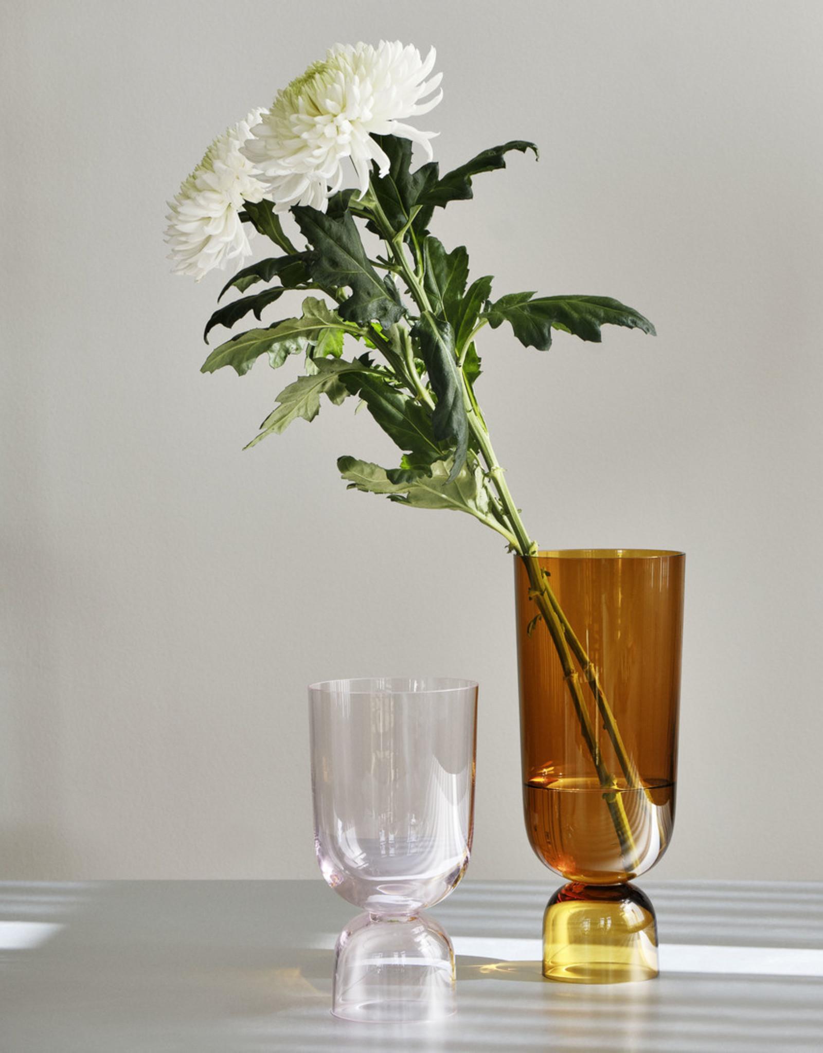 HAY HAY Bottoms Up Vase L Amber