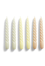 HAY HAY Candle Twist Set of 6 Pcs Grey Beige Citrus Peach