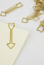 Monograph Monograph Clip Arrow brass finish 15 pcs/pack