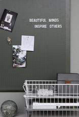 Monograph Monograph Noticeboard  Grid  Grey, l: 90 cm, w: 60 cm, 424 pcs