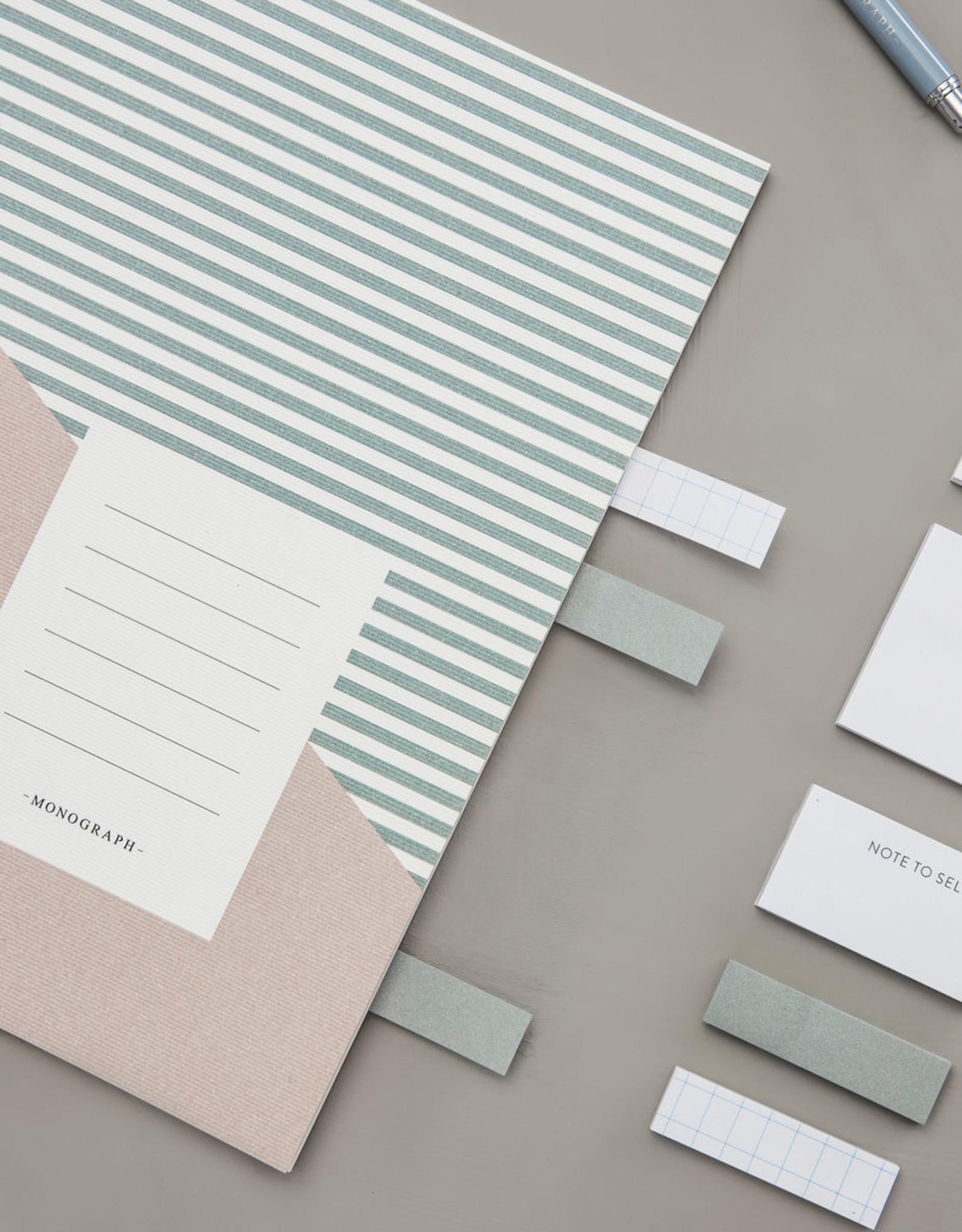 Monograph Monograph Note book Stripes Combo 2 A5 Set of 2 designs