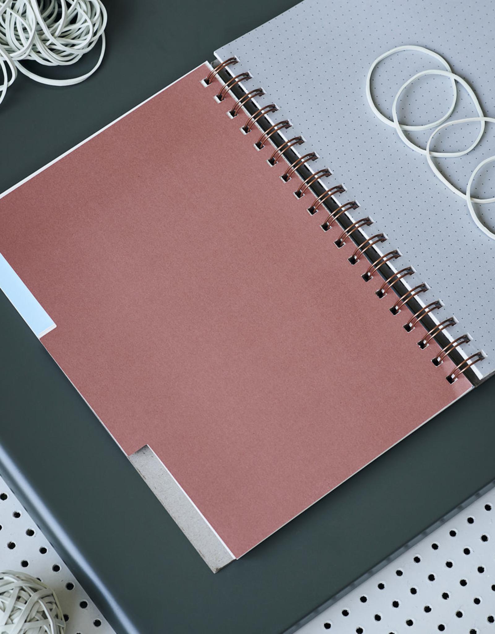 Monograph Monograph Note book, Tab, Grey, 25,2x17,7cm
