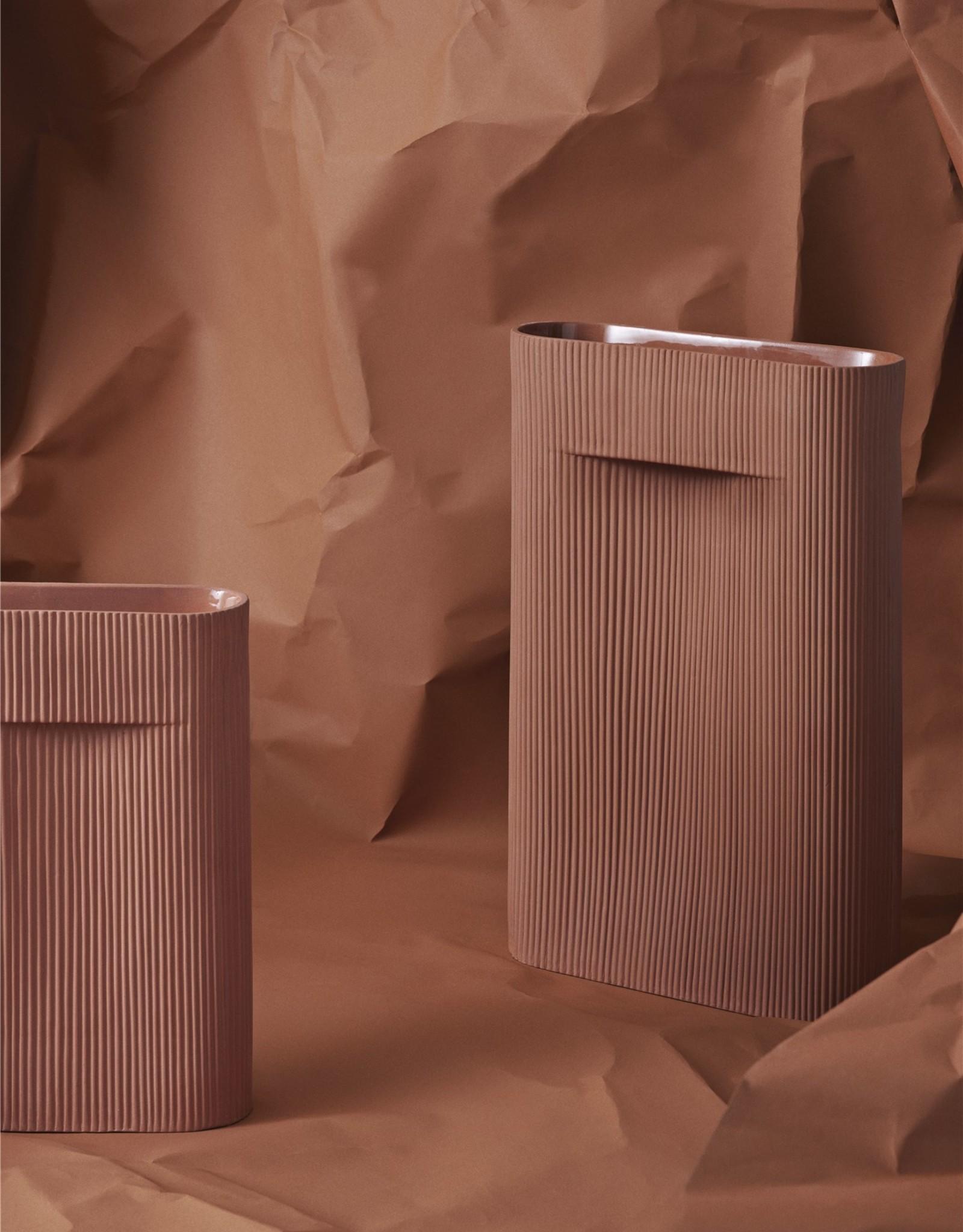 Muuto Muuto Ridge Vase H48 terracotta