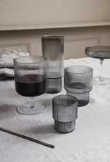 Ferm LIVING ferm LIVING Ripple Wine Glasses smoked grey