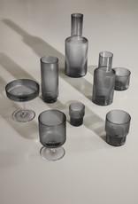 Ferm LIVING ferm LIVING Ripple Glass (set of 4) smoked grey