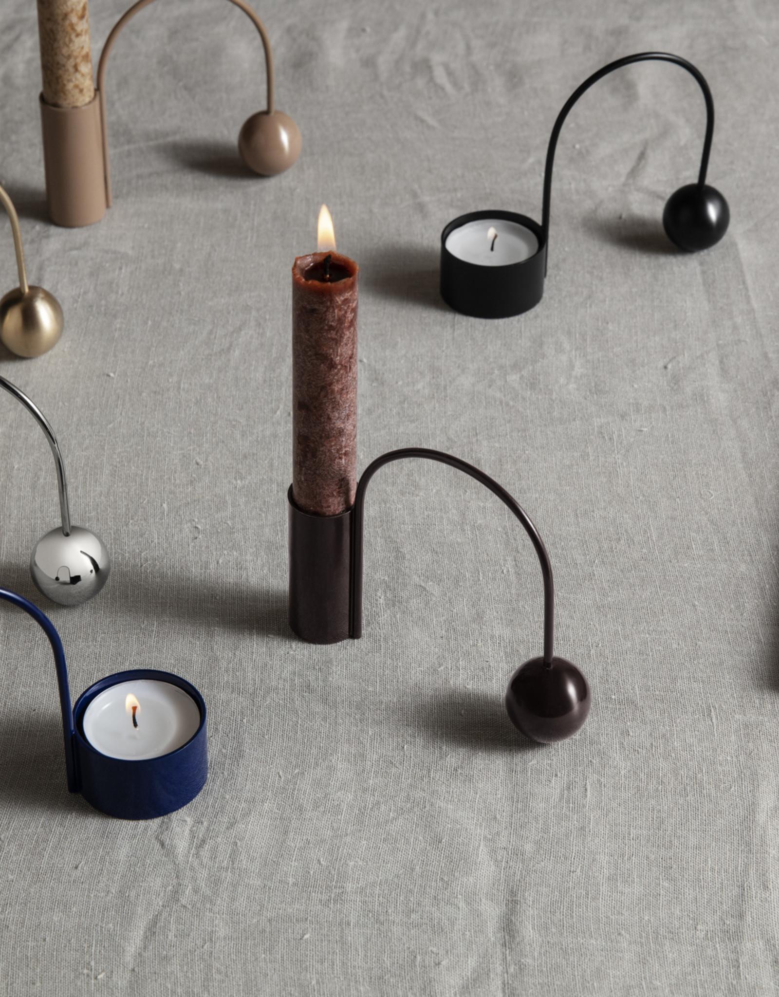 Ferm LIVING Ferm Living Balance Candle Holder - Black Brass