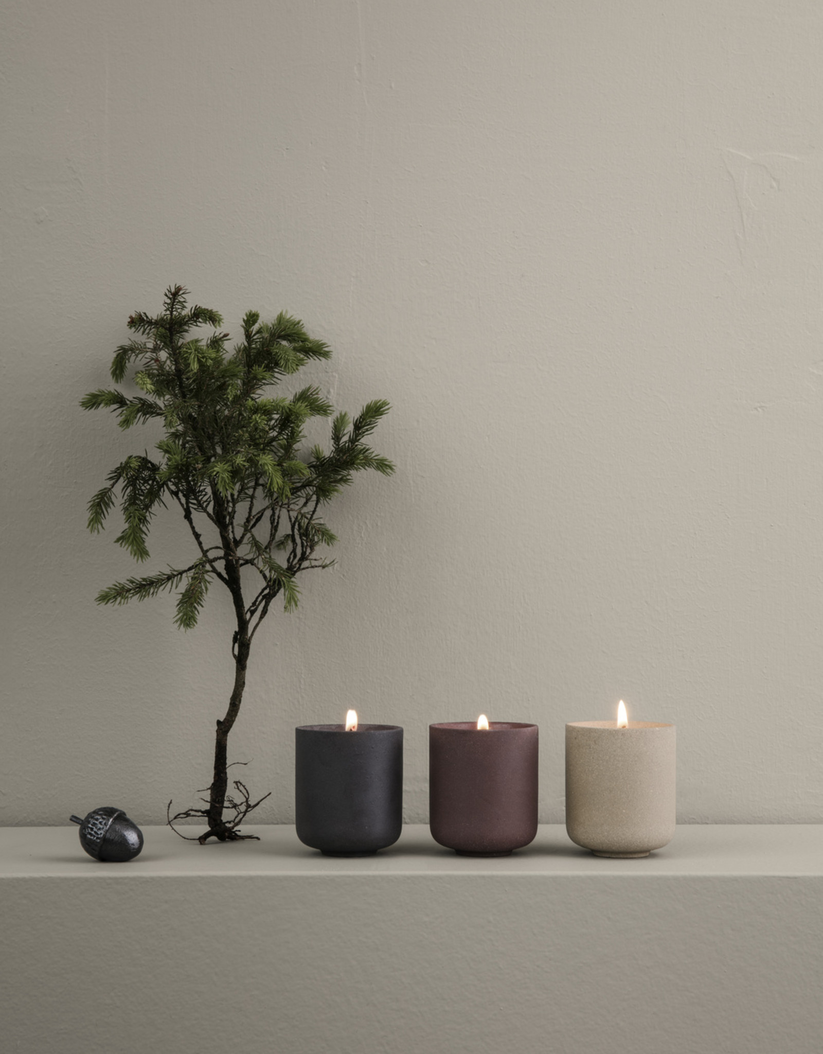 Ferm LIVING ferm LIVING Sekki Scented Soy Candle L rust