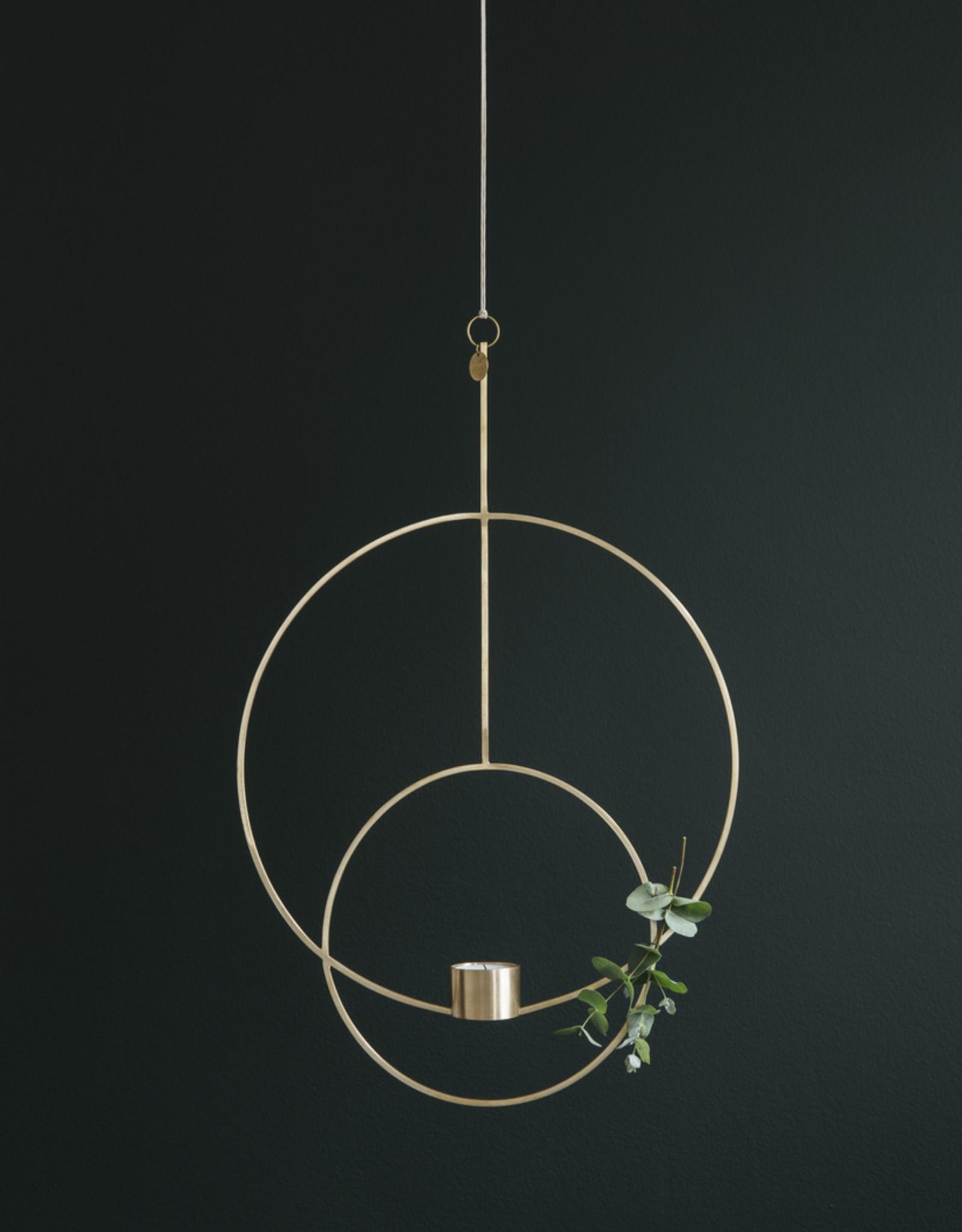 Ferm LIVING Ferm Living Hanging Tealight Deco - Circular - Brass