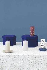 Normann Copenhagen Normann Grooved Block Candle Dark Blue