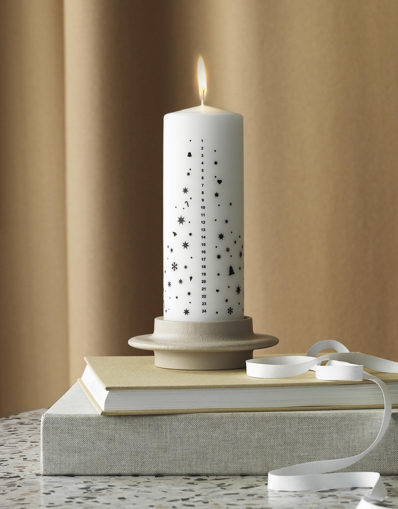 Normann Copenhagen Normann Heima Block Candle Holder Light Grey