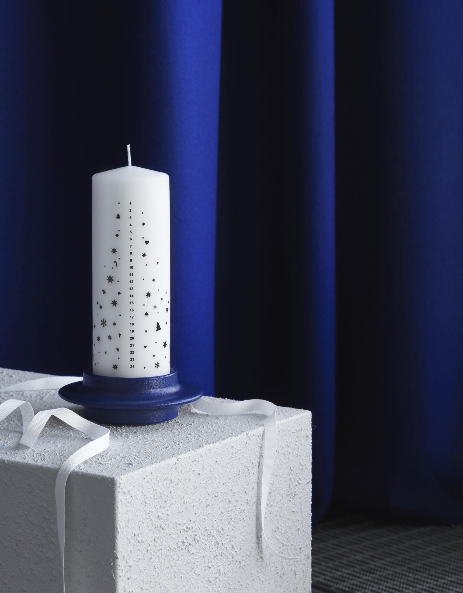 Normann Copenhagen Normann Heima Block Candle Holder Dark Blue