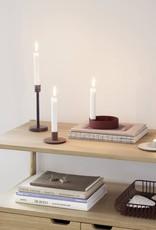 Hübsch Hübsch Candlestick Metal Peach Ø9cm