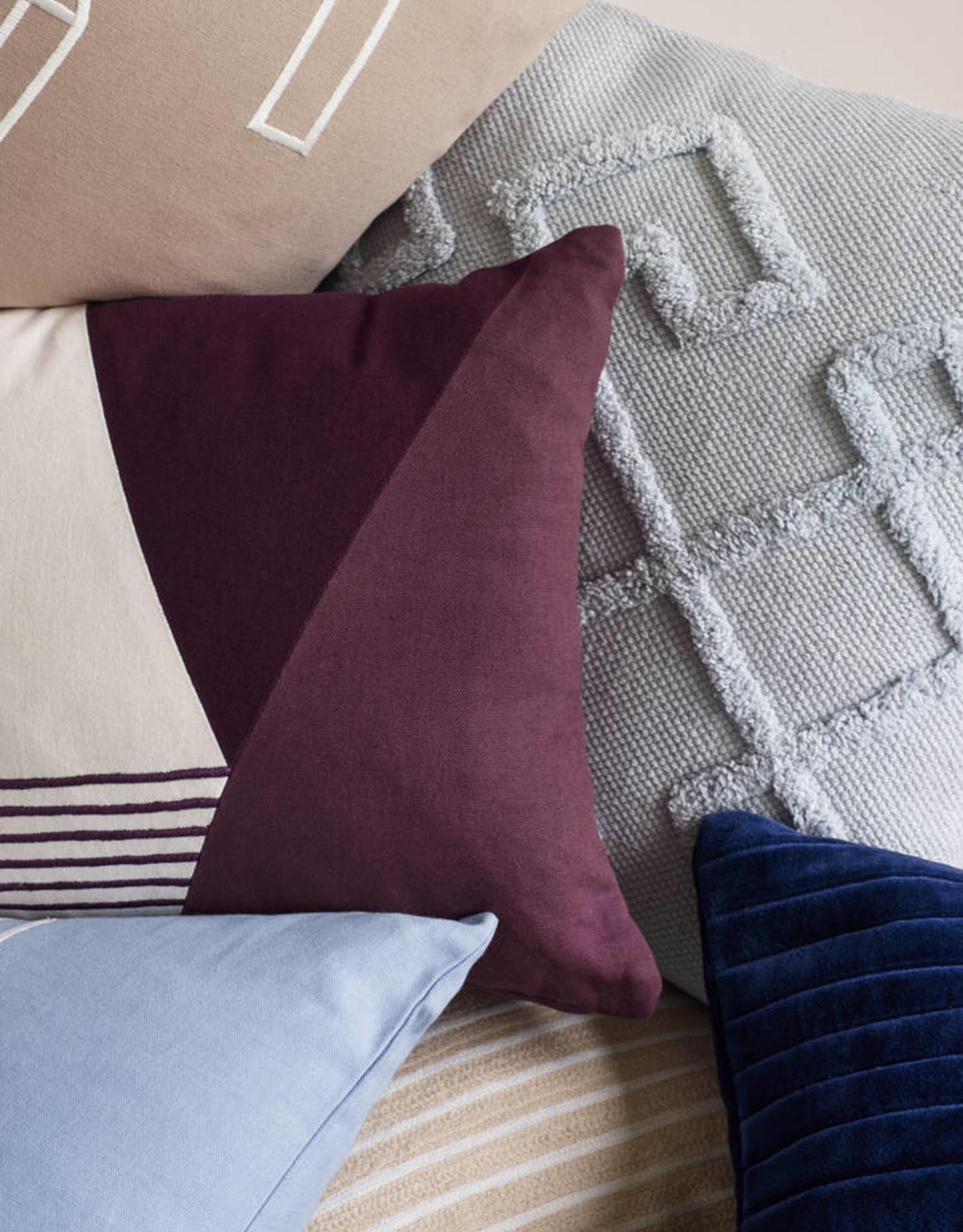 Hübsch Hübsch Cushion w/filler, bordeau 33 x 50