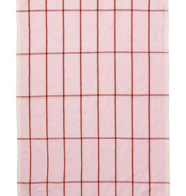 Ferm LIVING ferm LIVING Hale Tea Towel Rose/Rust
