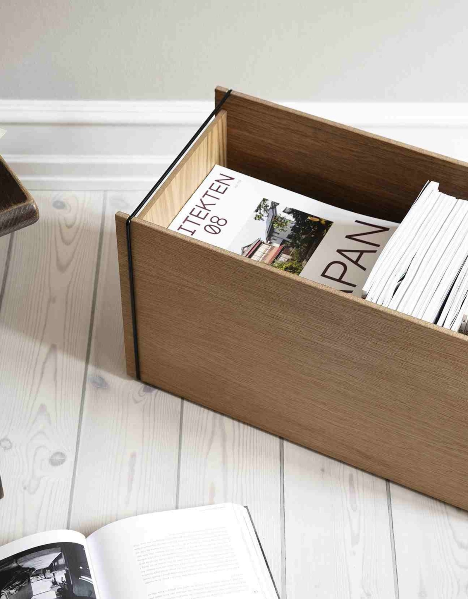 Moebe Moebe Storage Box Oak/Black