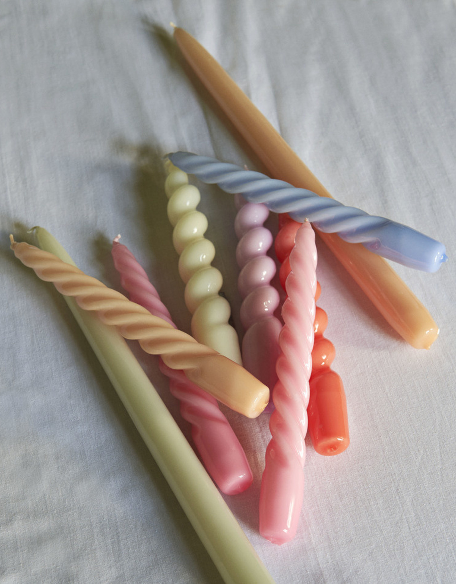 HAY HAY Candle Twist Set of 6 Pcs Arctic Blue Teal Pink