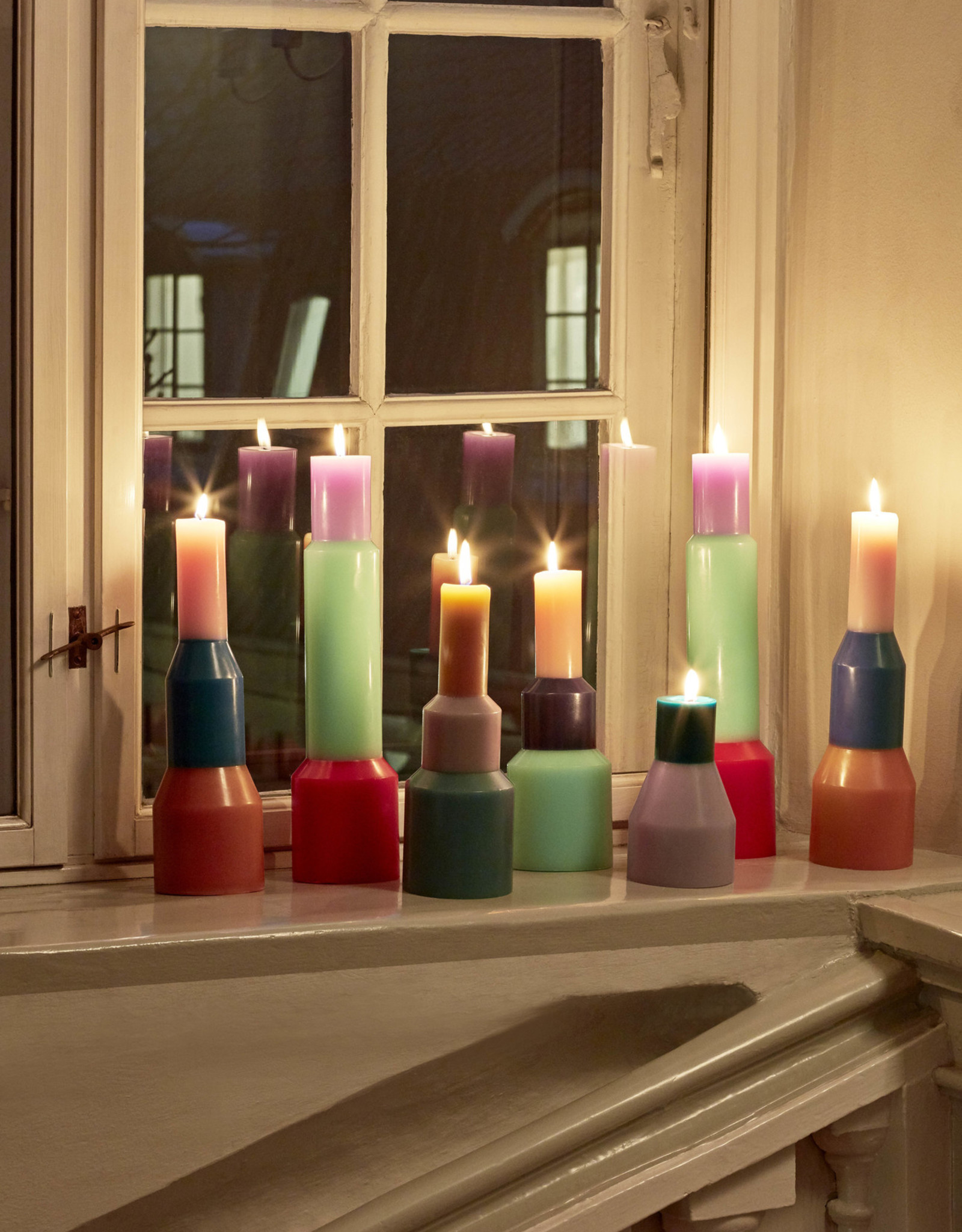 HAY HAY Pillar Candle L Yellow