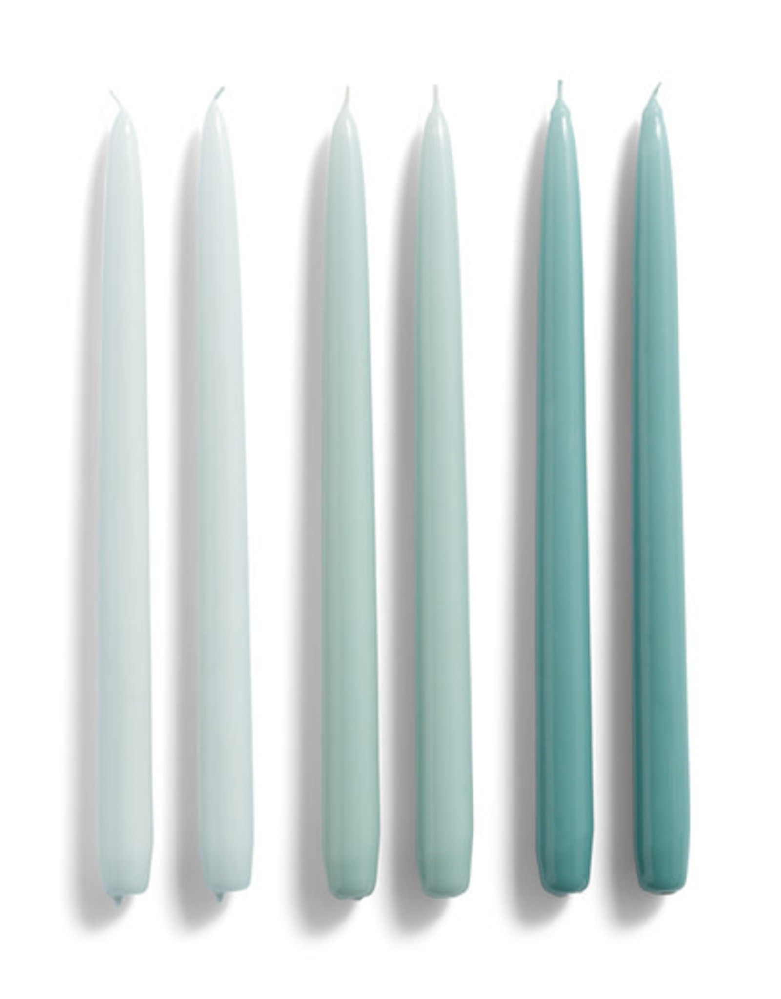 HAY HAY Candle Conical set of 6 Ice Blue Arctic Blue Teal