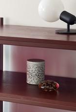 Hübsch Hübsch Storage Jar w/lid Terrazzo White Small