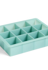 HAY HAY Ice Cube Tray Square XL Teal Blue
