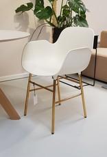 Normann Copenhagen Normann Form Armchair Brass White SHOWMODEL