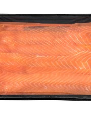 GEROOKTE ZALM LONG SLICED PER 100GR