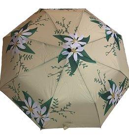Schirm Gelb mit Blumen