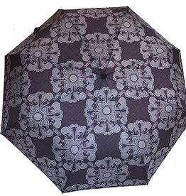Schirm Schwarz mit grau