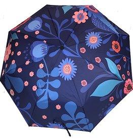 sense&purpose Schirm Blau mit Blumen