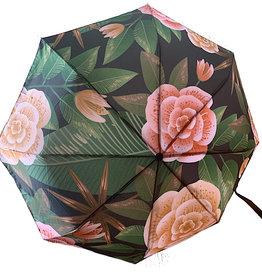 Schirm Grün mit Rosen