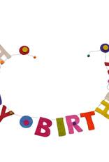 Filzgirlande Happy Birthd handgemacht gefilzt 100% Wolle