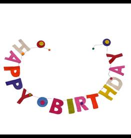 sense&purpose Filzgirlande Happy Birthday handgemacht