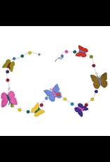 sense&purpose Filzgirlande Schmetterlin handgemacht gefilzt 100% Wolle
