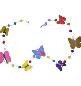 Filzgirlande Schmetterling handgemacht