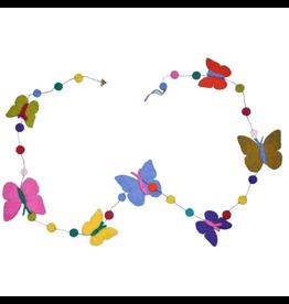 sense&purpose Filzgirlande Schmetterling handgemacht