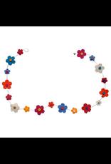 Filzgirlande Blume handgemacht gefilzt 100% Wolle