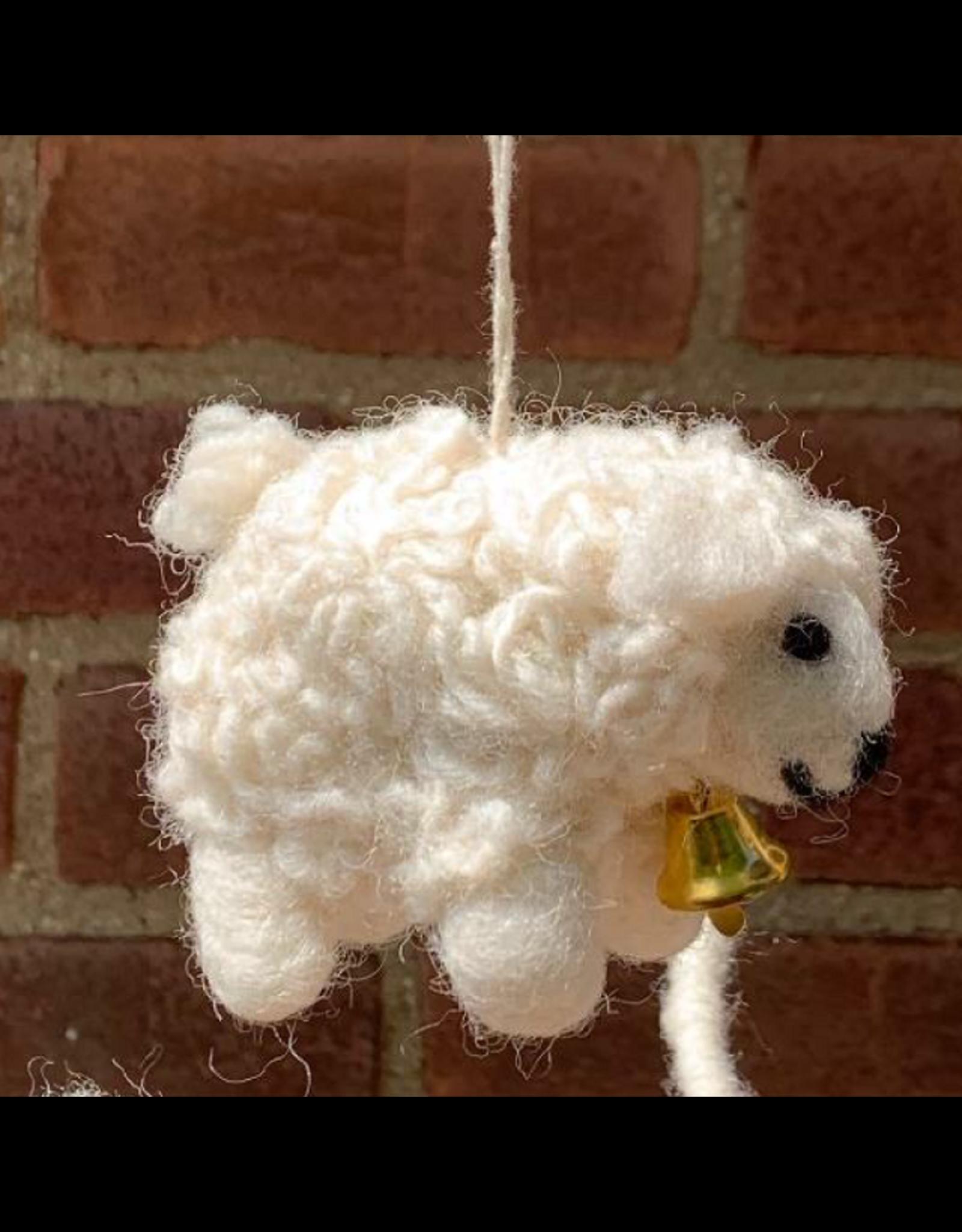 Filzschaf Handgemacht gefilzt 100% Wolle