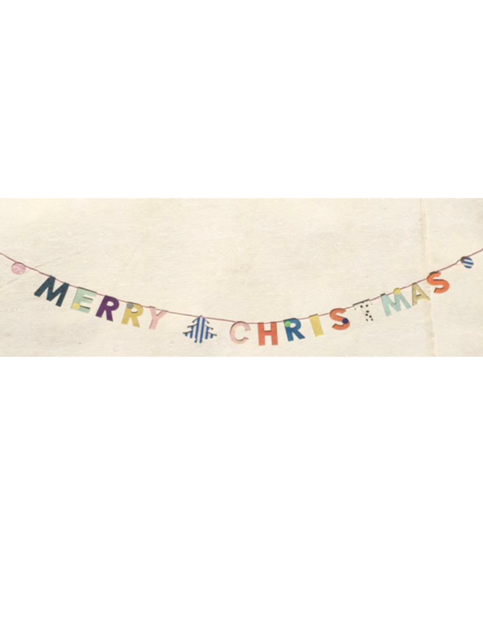 Papiergirlande Merry Chri  Handgeschöpftes Papier