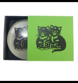 Scherenschnitt-Seife Katze maigrün