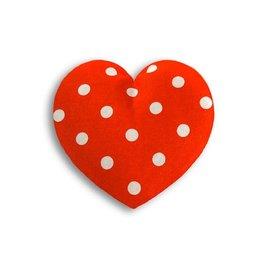 Wärmekissen Herz Tupfen klein