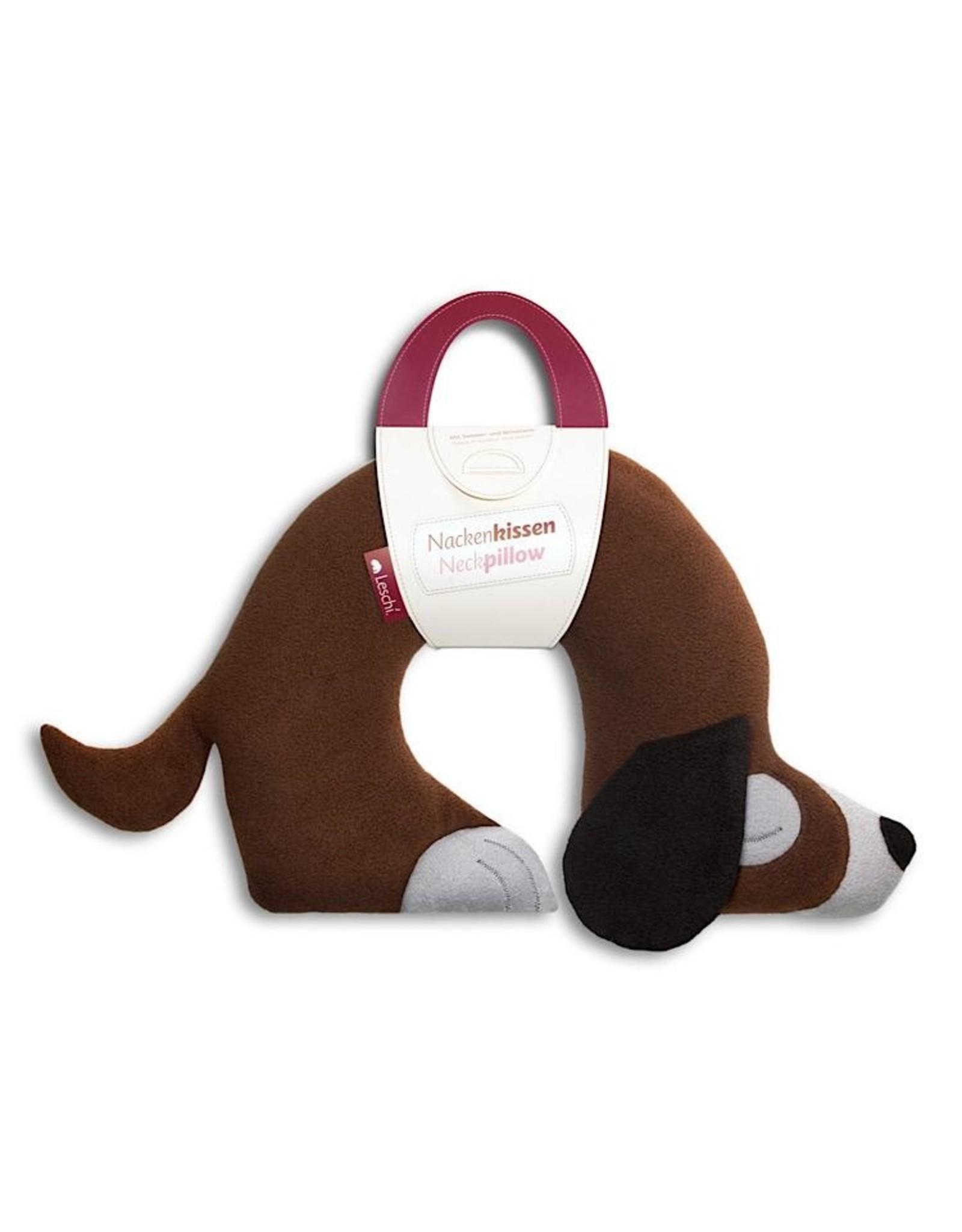 Nackenstützkissen Hund Ch schokolade Polyesterwattenfüllung
