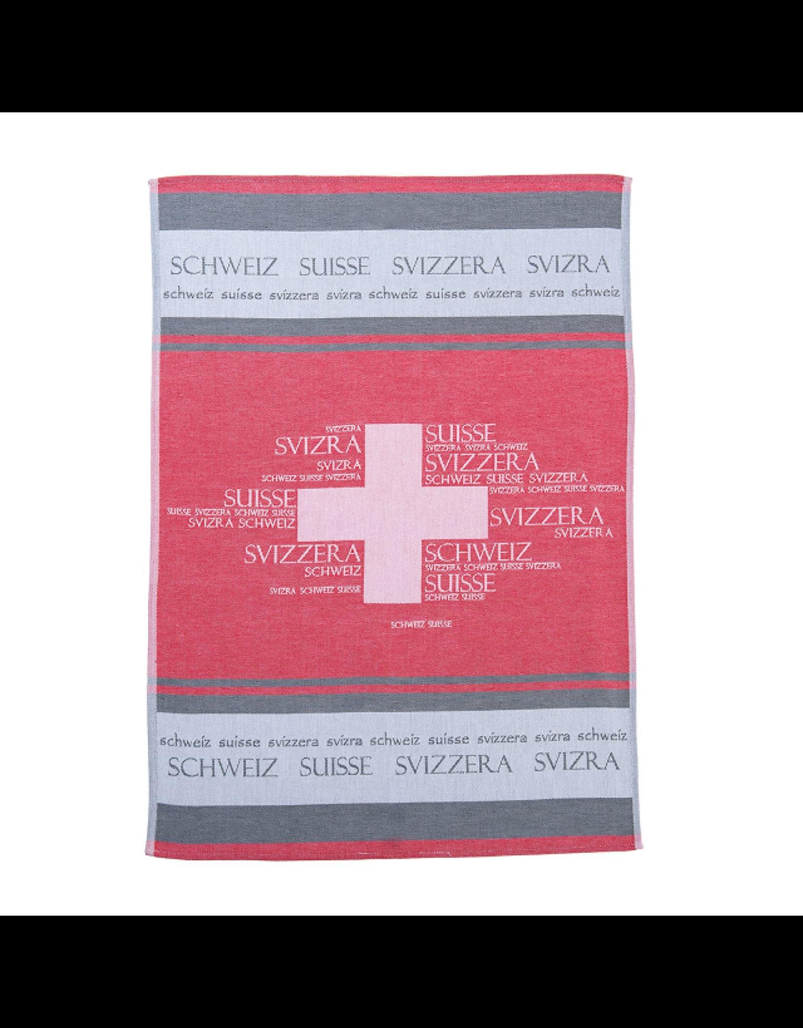 Rigotex Küchentuch Schweiz rot rot Bw-Zwirn Jacquard